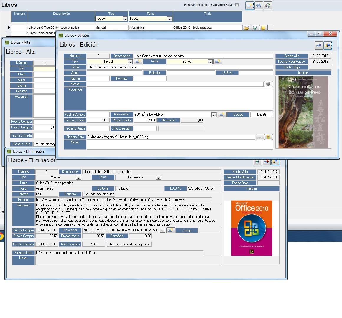 Bonsai programa de gestion de bonsai - Libros sobre bonsai ...